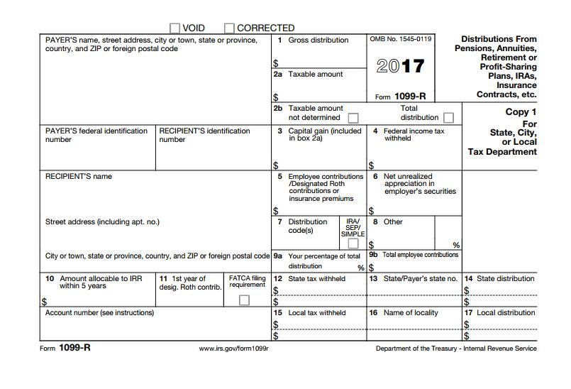 American Equitys Tax Form 1099 R For Annuity Distribution